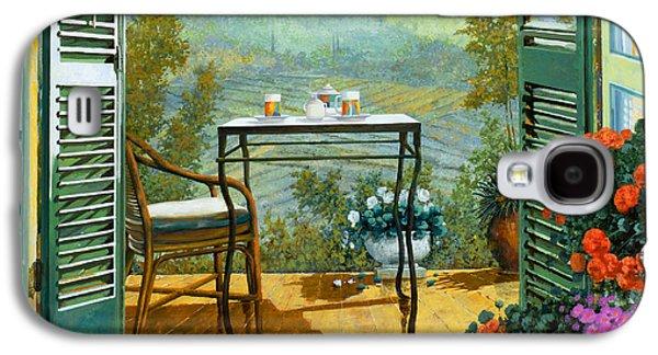 Wine Glass Paintings Galaxy S4 Cases - Alle Dieci Del Mattino Galaxy S4 Case by Guido Borelli