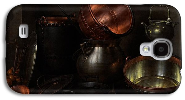 Interior Still Life Paintings Galaxy S4 Cases - Allegory of the Four Elements Galaxy S4 Case by Cornelis Jacobsz Delff