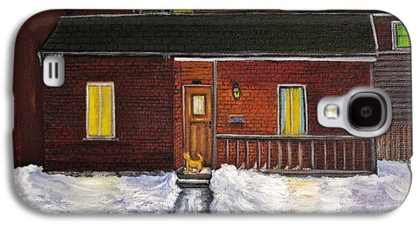 Montreal Paintings Galaxy S4 Cases - Alley Cat House Galaxy S4 Case by Reb Frost