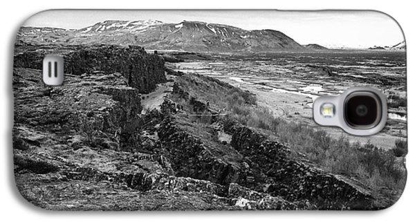 Fault Galaxy S4 Cases - Almannagja fault line in the mid-atlantic ridge north american plate Thingvellir national park Galaxy S4 Case by Joe Fox