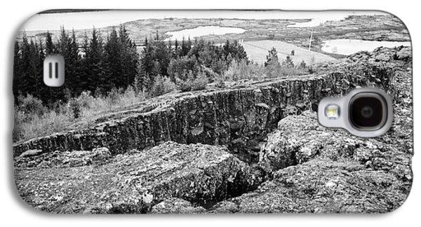Fault Galaxy S4 Cases - Almannagja fault line in the mid-atlantic ridge north american plateThingvellir national park icelan Galaxy S4 Case by Joe Fox