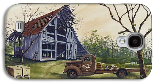 Old Barns Paintings Galaxy S4 Cases - Almost Bee Season Galaxy S4 Case by Bill Shelton