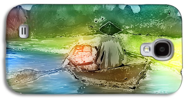 Rowboat Digital Art Galaxy S4 Cases - Along The Banks Of Hanoi Galaxy S4 Case by Arline Wagner