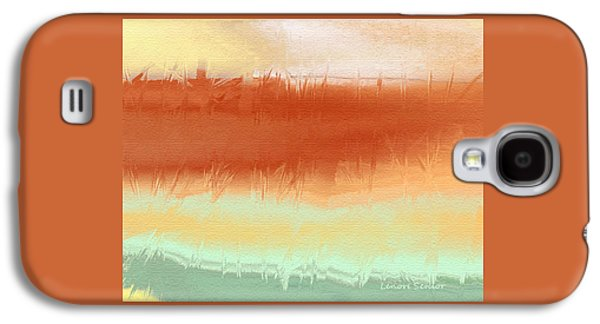 Abstract Digital Paintings Galaxy S4 Cases - Along the Side of the Highway Galaxy S4 Case by Lenore Senior
