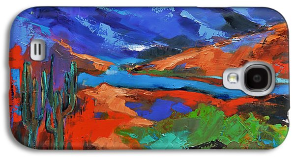 Wilderness Paintings Galaxy S4 Cases - Along The Trail - Arizona Galaxy S4 Case by Elise Palmigiani