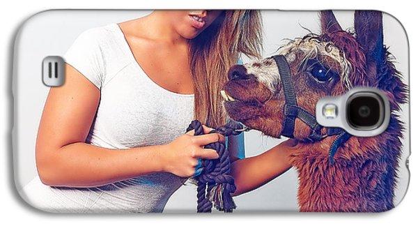 Alpaca Mr. Tex And Breanna Galaxy S4 Case by TC Morgan