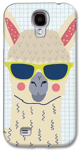 Alpaca Galaxy S4 Case by Nicole Wilson