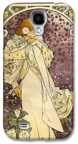 Ancient Galaxy S4 Cases - Alphonse Mucha - Sarah Bernhard - La Dame aux Camelias Galaxy S4 Case by Pablo Romero