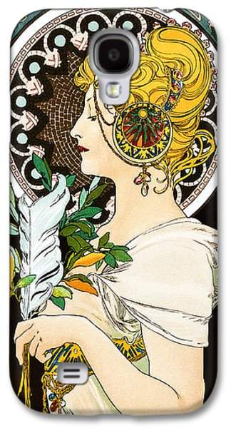 Ancient Galaxy S4 Cases - Alphonse Mucha - Spring and pen Galaxy S4 Case by Pablo Romero