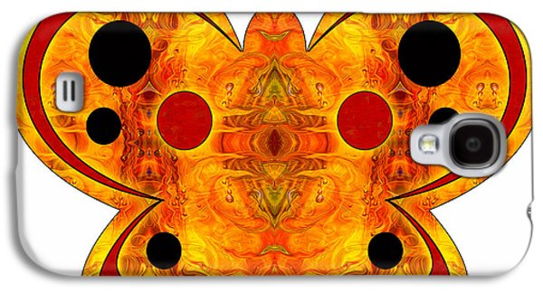 Abstracts Glass Art Galaxy S4 Cases - Alternate Realities And Abstract Butterflies by Omashte Galaxy S4 Case by Omaste Witkowski