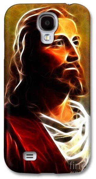 Amazing Jesus Portrait Galaxy S4 Case by Pamela Johnson
