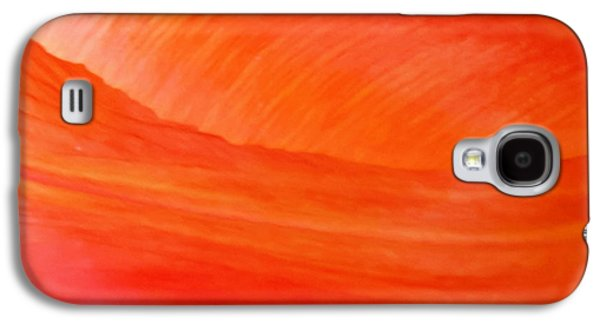 Calla Lilly Galaxy S4 Cases - Amber Wave Galaxy S4 Case by Az Jackson