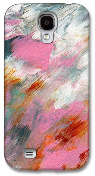 Marble Galaxy S4 Cases - Ambrosia 2- Abstract Art By Linda Woods Galaxy S4 Case by Linda Woods
