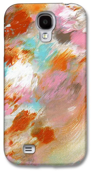 Marble Galaxy S4 Cases - Ambrosia- Abstract Art By Linda Woods Galaxy S4 Case by Linda Woods