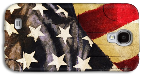 Torn Galaxy S4 Cases - America flag pattern postcard Galaxy S4 Case by Setsiri Silapasuwanchai