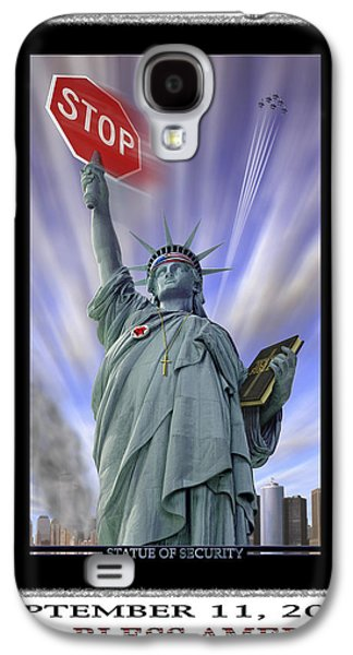 Stop Sign Galaxy S4 Cases - America On Alert II Galaxy S4 Case by Mike McGlothlen