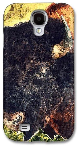 Bison Digital Galaxy S4 Cases - American buffalo Galaxy S4 Case by Binka Kirova