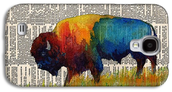 American Buffalo IIi On Vintage Dictionary Galaxy S4 Case by Hailey E Herrera