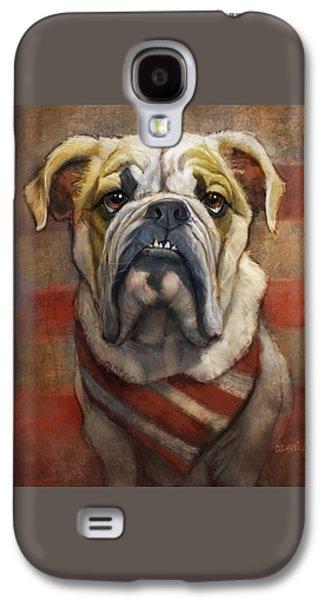 American Bulldog Galaxy S4 Case by Sean ODaniels