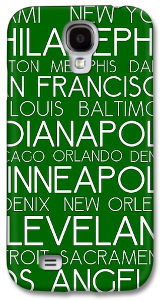 Charlotte Mixed Media Galaxy S4 Cases - American Cities in Bus Roll Destination Map Style Poster - Green  Galaxy S4 Case by Celestial Images