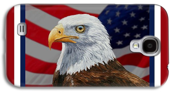 American Eagle Phone Case Galaxy S4 Case by Crista Forest