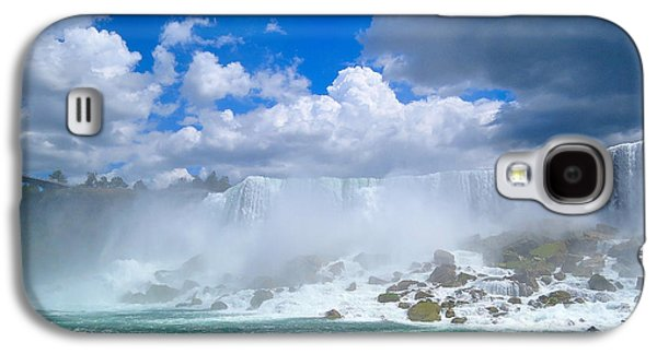 Landmarks Photographs Galaxy S4 Cases - American Falls Galaxy S4 Case by J L Kempster