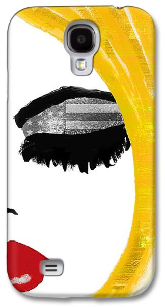 Patriotic Paintings Galaxy S4 Cases - American Girl Galaxy S4 Case by Mindy Sommers