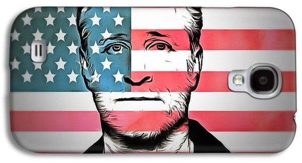 Democrat Mixed Media Galaxy S4 Cases - American Icon Jon Stewart Galaxy S4 Case by Dan Sproul