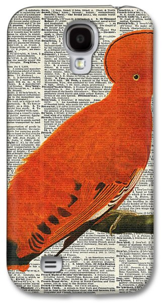 Landmarks Pastels Galaxy S4 Cases - American Martinet Orange Parrot bird Galaxy S4 Case by Jacob Kuch