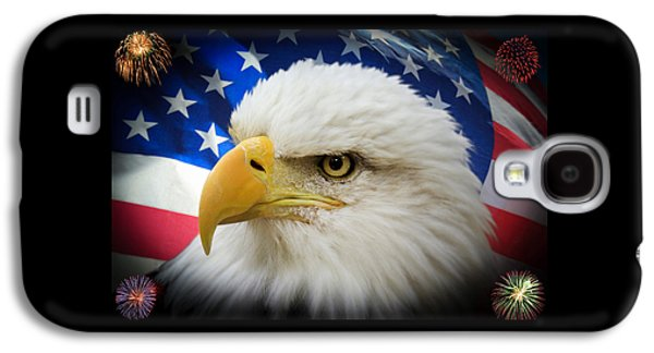 4th July Galaxy S4 Cases - American Pride Galaxy S4 Case by Shane Bechler