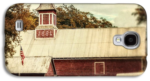 Weathervane Galaxy S4 Cases - Americana Barn Galaxy S4 Case by Lisa Russo