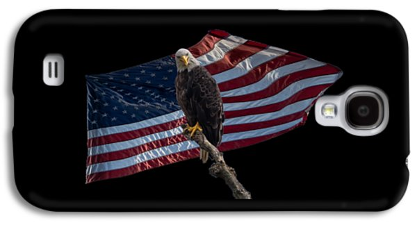 4th July Galaxy S4 Cases - Americas Eagle  Galaxy S4 Case by Jan M Holden