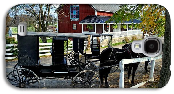 Quaker Galaxy S4 Cases - Amish Country Horse and Buggy Galaxy S4 Case by Frozen in Time Fine Art Photography