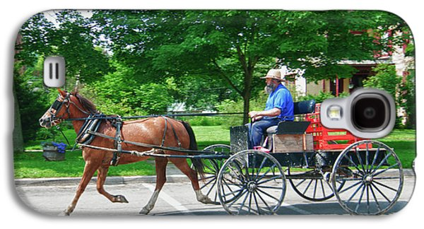 Amish Photographs Galaxy S4 Cases - Amish Merchant 5671 Galaxy S4 Case by Guy Whiteley