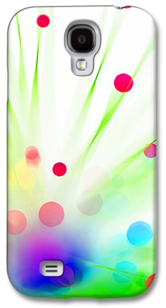 Abstract Digital Photographs Galaxy S4 Cases - Among the Wildflowers Galaxy S4 Case by Dazzle Zazz