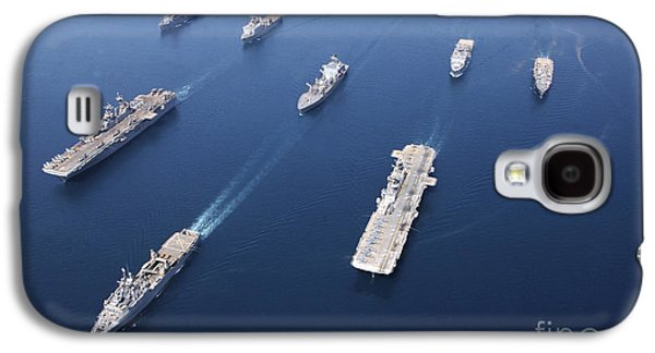 Boxer Galaxy S4 Cases - Amphibious Task Force-west In Formation Galaxy S4 Case by Stocktrek Images