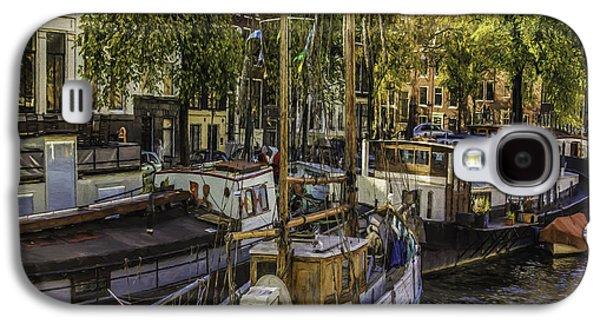 Ancient Galaxy S4 Cases - Amsterdam Boats Galaxy S4 Case by Jean OKeeffe Macro Abundance Art