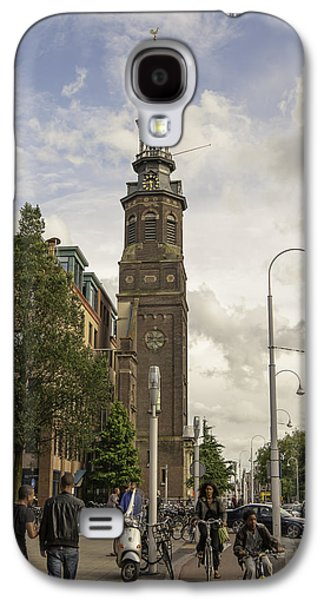 Ancient Galaxy S4 Cases - Amsterdam Clock Tower Galaxy S4 Case by Phyllis Taylor