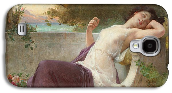 Alluring Paintings Galaxy S4 Cases - An Afternoon Rest Galaxy S4 Case by Guillaume Seignac