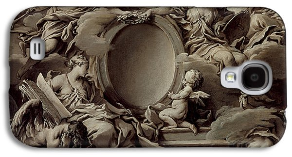 Faith Drawings Galaxy S4 Cases - An Allegory of Minerva Fame History and Faith Overcoming Ignorance and Time Galaxy S4 Case by Francois Boucher