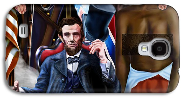 Republican Paintings Galaxy S4 Cases - An American Family Portrait Galaxy S4 Case by Reggie Duffie