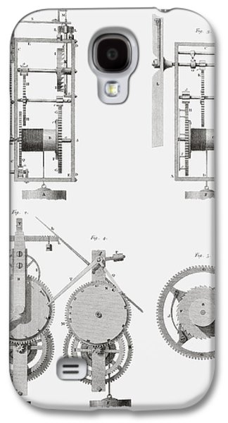 An Ancient Clock Built By Henry De Wick Galaxy S4 Case by Vintage Design Pics