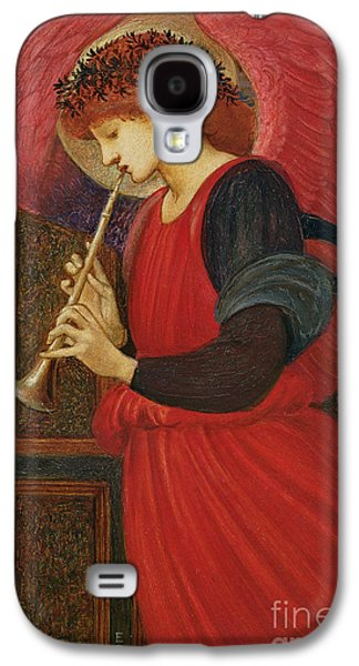 Christmas Cards - Galaxy S4 Cases - An Angel Playing a Flageolet Galaxy S4 Case by Sir Edward Burne-Jones