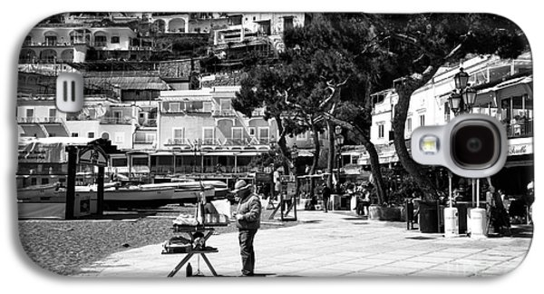Painter Photo Photographs Galaxy S4 Cases - An Artist in Positano Galaxy S4 Case by John Rizzuto