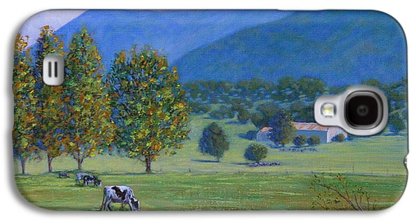 Caws Paintings Galaxy S4 Cases - An autumn farm in Berry Galaxy S4 Case by Jing Art