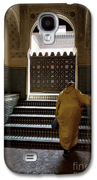 An Elderly Woman Entering The Mosque In Fes, Morocco Galaxy S4 Case by Dani Prints and Images