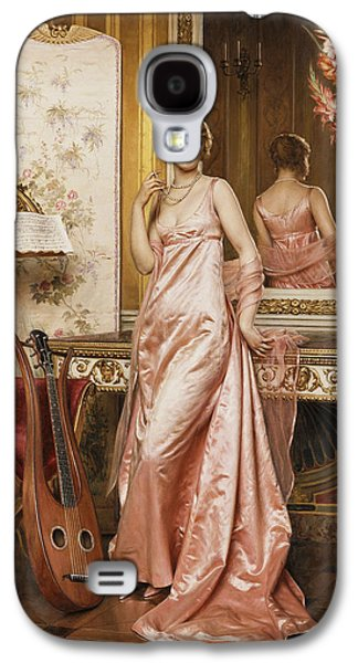 An Elegant Lady In An Interior Galaxy S4 Case by Joseph Frederic Charles Soulacroix