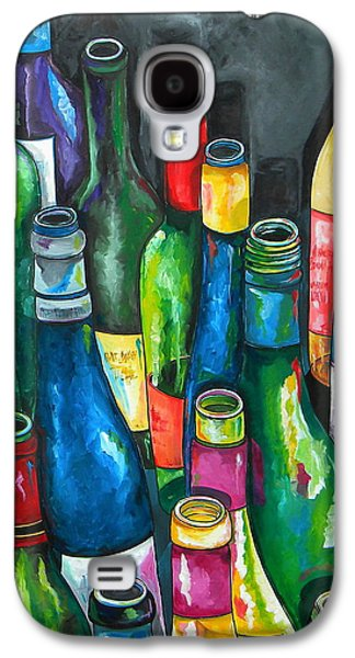 Italian Wine Paintings Galaxy S4 Cases - An Evening With Friends Galaxy S4 Case by Patti Schermerhorn