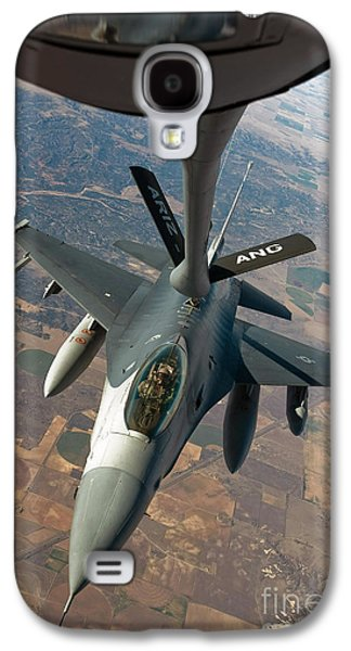 Mechanism Galaxy S4 Cases - An F-16 Fighting Falcon Receiving Fuel Galaxy S4 Case by Stocktrek Images