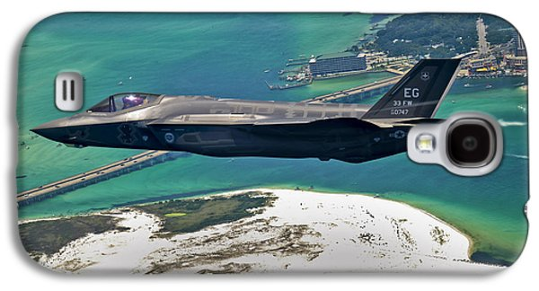 Fighters Galaxy S4 Cases - An F-35 Lightning Ii Flies Over Destin Galaxy S4 Case by Stocktrek Images
